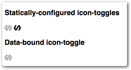 Demo showing icon toggles displaying Polymer icon